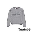 Timberland 女款灰色Saco Rvr圓領品牌標誌運動衫