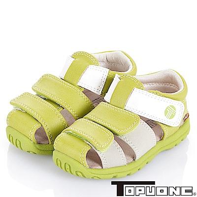 (雙11)TOPUONE 輕量舒適減壓防滑學步童鞋-綠(中小童)