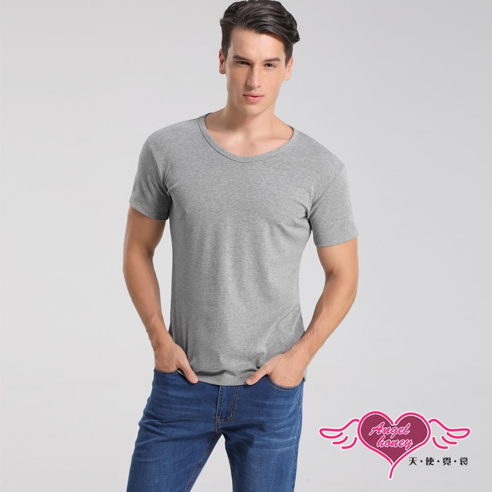 塑身衣 簡約時尚 短袖彈性透氣運動上衣 內搭T恤  健身 (灰色M~2L) AngelHoney天使霓裳