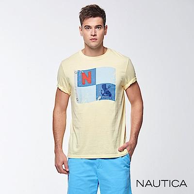 Nautica航海風圖騰短袖TEE-黃