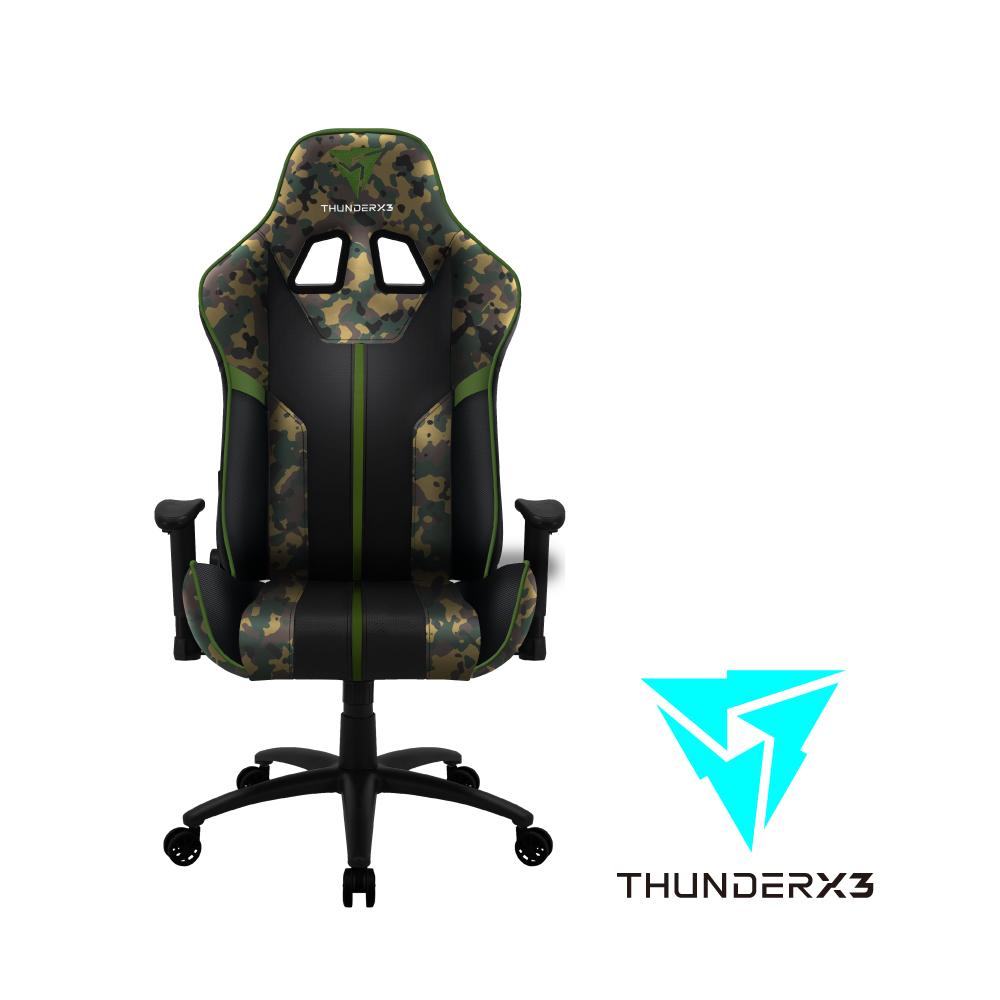 【ThunderX3】BC3  CAMO系列 電競賽車椅(迷彩綠)