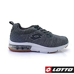 LOTTO 義大利 男 ARIA KNIT 氣墊跑鞋 (黑)