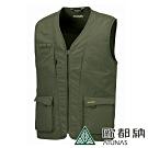 【ATUNAS 歐都納】男女中性款抗UV防曬多口袋戶外休閒背心A-V1601橄欖綠