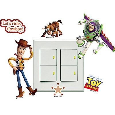 itaste小品味-玩具總動員系列開關壁貼-玩具好夥伴8cm*12cm