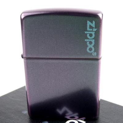 ZIPPO 美系~Iridescent虹彩塗裝-LOGO字樣打火機