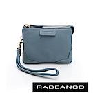 RABEANCO 迷時尚系列多分層牛皮手拎零錢包(小) 天藍
