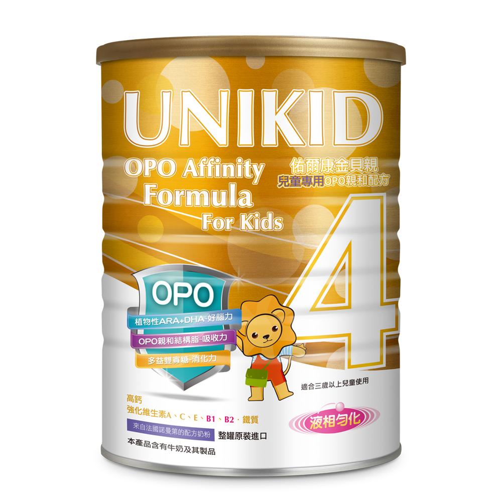 【UNIKID佑爾康金貝親】兒童專用OPO親和配方(4號)900g(12入)