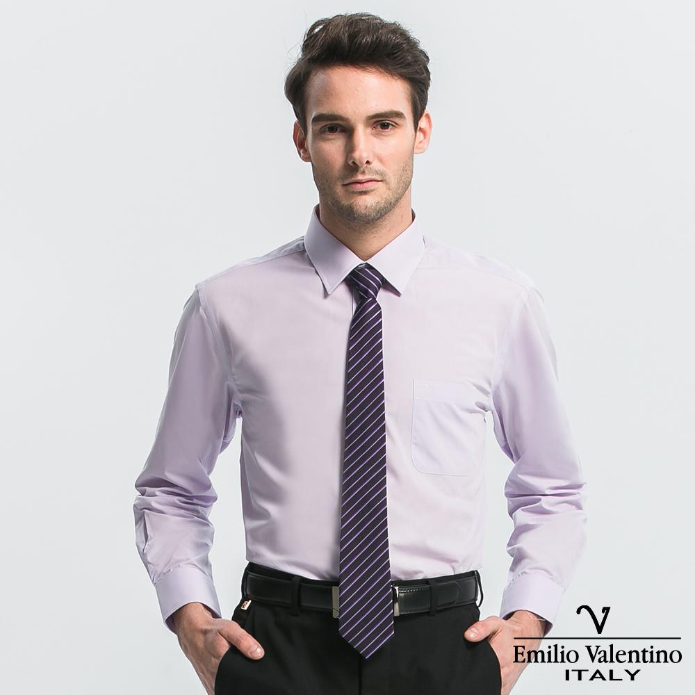Emilio Valentino 范倫提諾都會經典長袖襯衫-淺紫