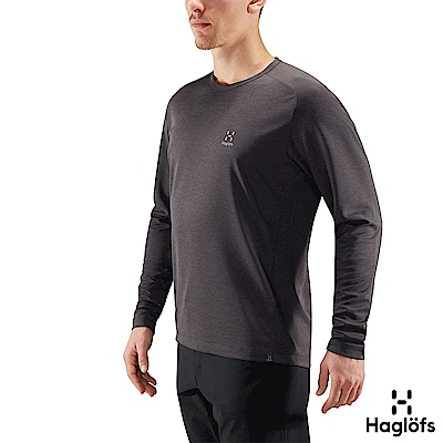 Haglofs 男 Curve 快乾 輕量 保暖長袖圓領衫 磁鐵色