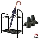 金德恩 台灣製造 15格鐵管置物瀝水雨傘架48x30x54cm+多功能簡易腳座