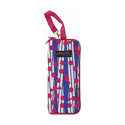 日本Prairiedog 可調式掛勾絨毛超吸水摺疊傘套-紅藍撞色