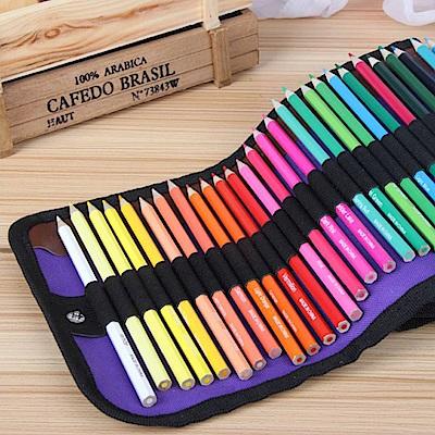 Conalife  可捲式50色色鉛筆帆布筆袋(超值2入組)