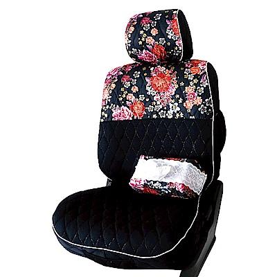 【葵花】量身訂做-汽車椅套-布料-花漾配色-休旅車-9人座款1-3排