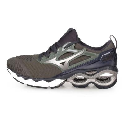 MIZUNO 男 慢跑鞋 CREATION WAVEKNIT 軍綠鐵灰