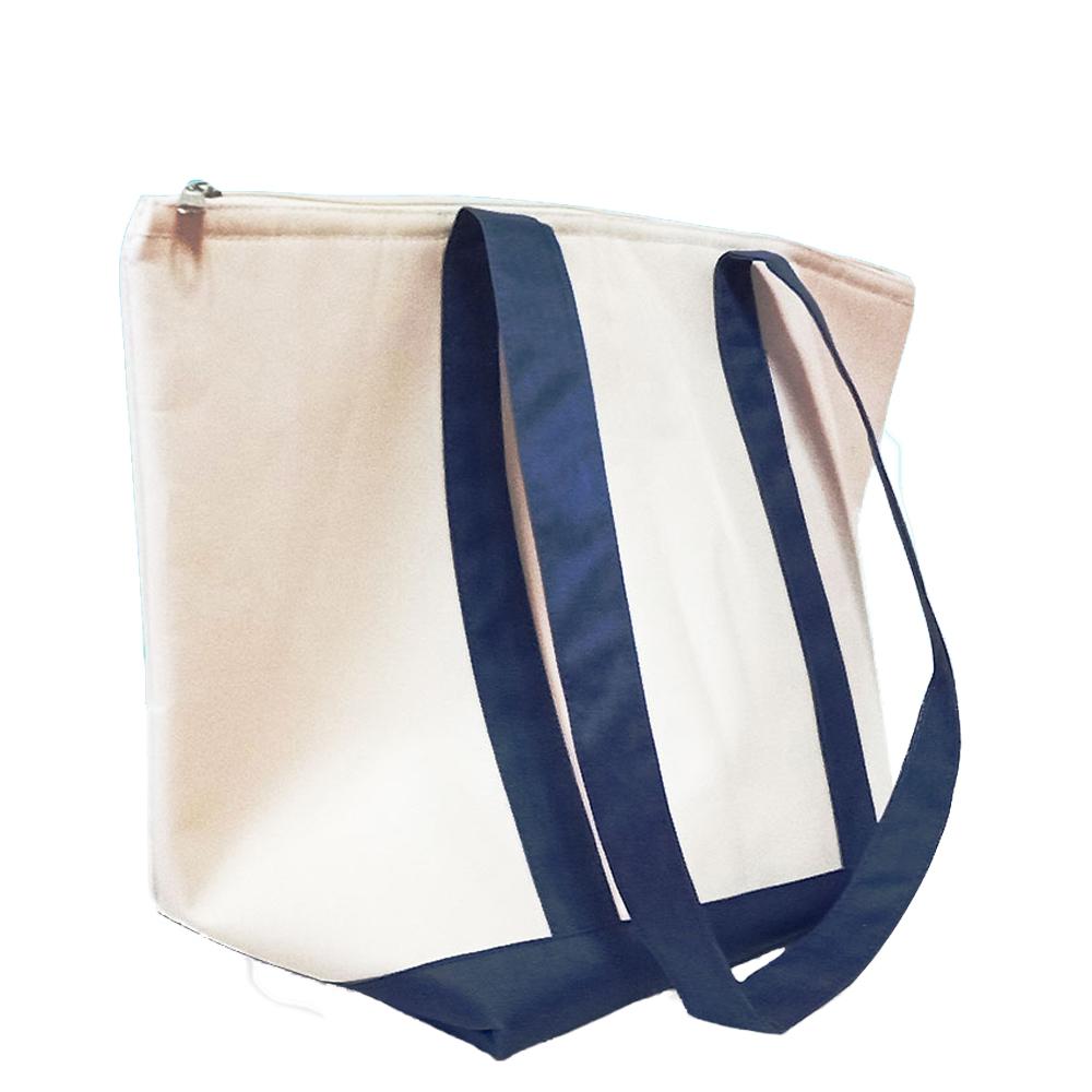 金德恩 地中海風格超大容量保溫保冷牛津布置物袋48x31cm 手提袋/肩背袋/保鮮袋