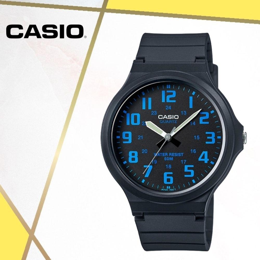 CASIO卡西歐 經典大錶面指針錶(MW-240-2B)/48mm