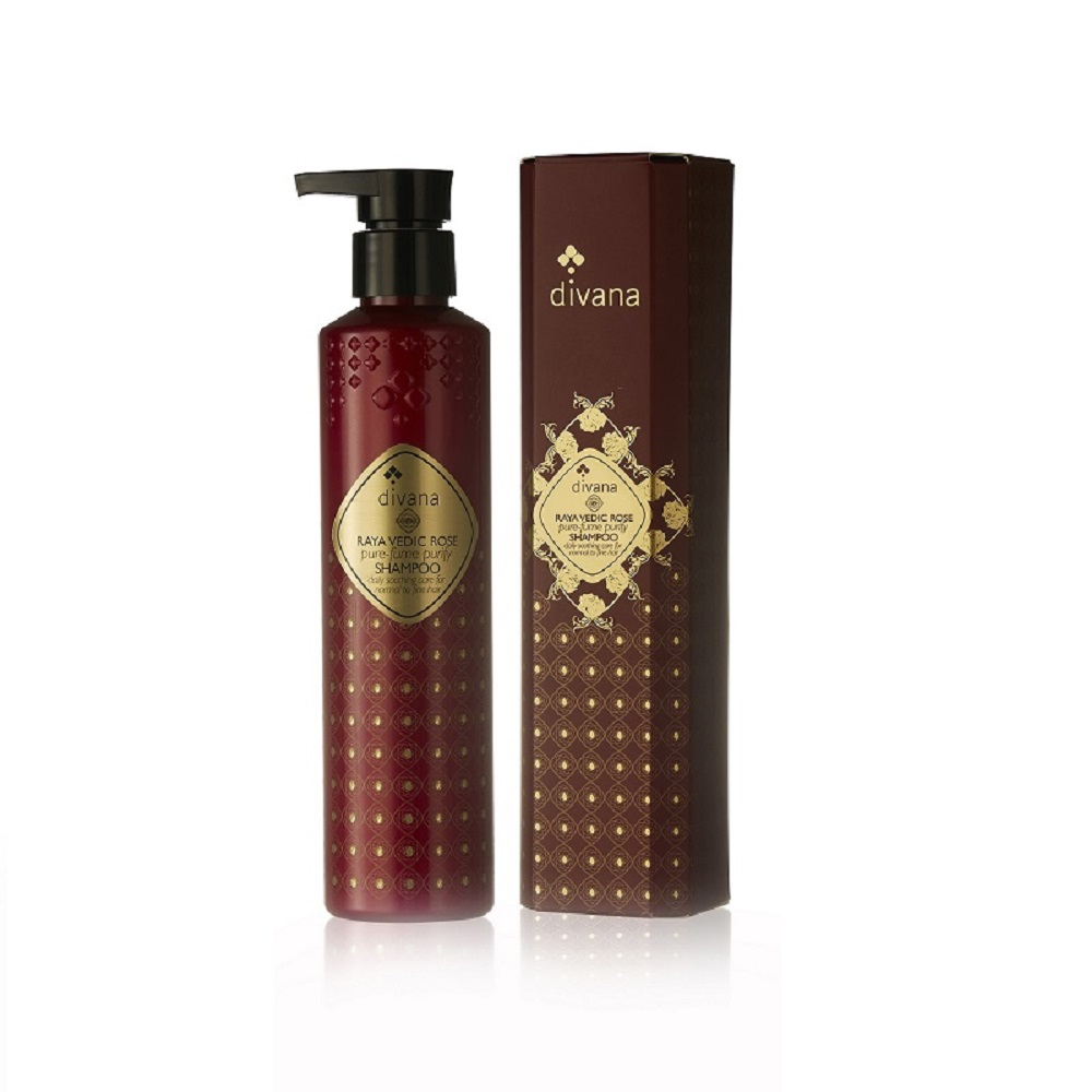 安垛小姐 - 泰國頂級香氛SPA divana 拉亞吠陀玫瑰潔淨洗髮精 210ml