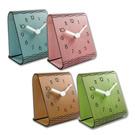 簡約時尚 現代居家 木紋 日式 風格 餐廳客廳臥室床頭 靜音座鐘 - 四色任選