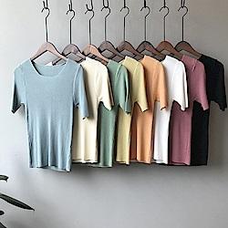 韓國空運 超美色系細摺針織衫-8色-TMH