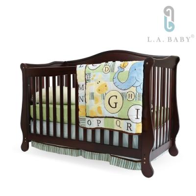 L.A. Baby伯蘭特美式四合一嬰兒成長床/嬰兒床(獨立筒彈簧床墊+小護欄)2色