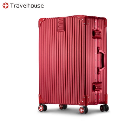 Travelhouse 旅遊邊界 20吋鋁框行李箱(活耀紅)
