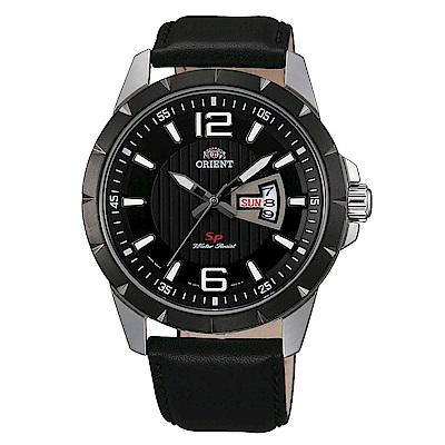 ORIENT東方錶 簡練態度運動石英腕錶皮帶(FUG1X002B9)黑x42.5mm