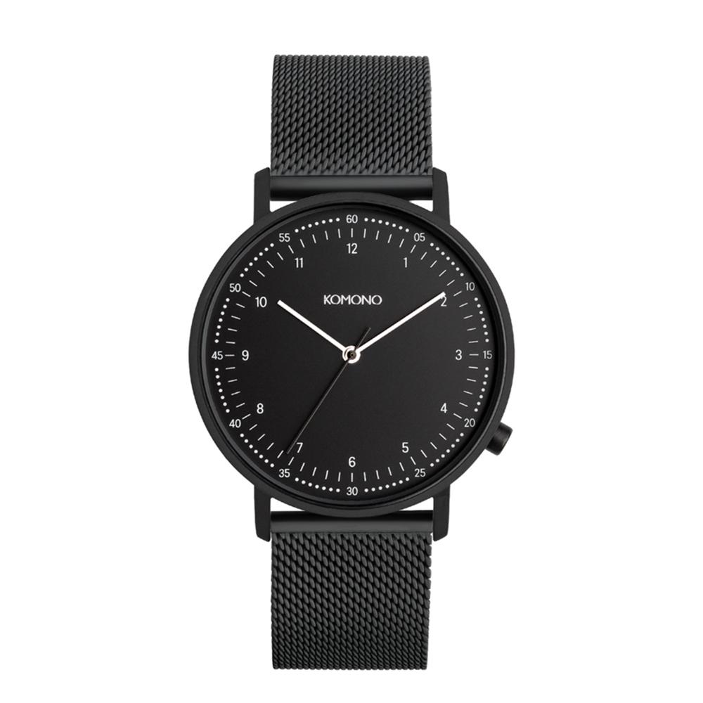 KOMONO Lewis Mesh 手錶-性格黑/36mm