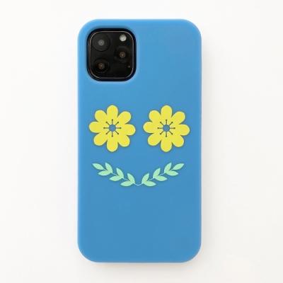 【Candies】Simple系列 Smile Flower(藍) - iPhone 11 Pro