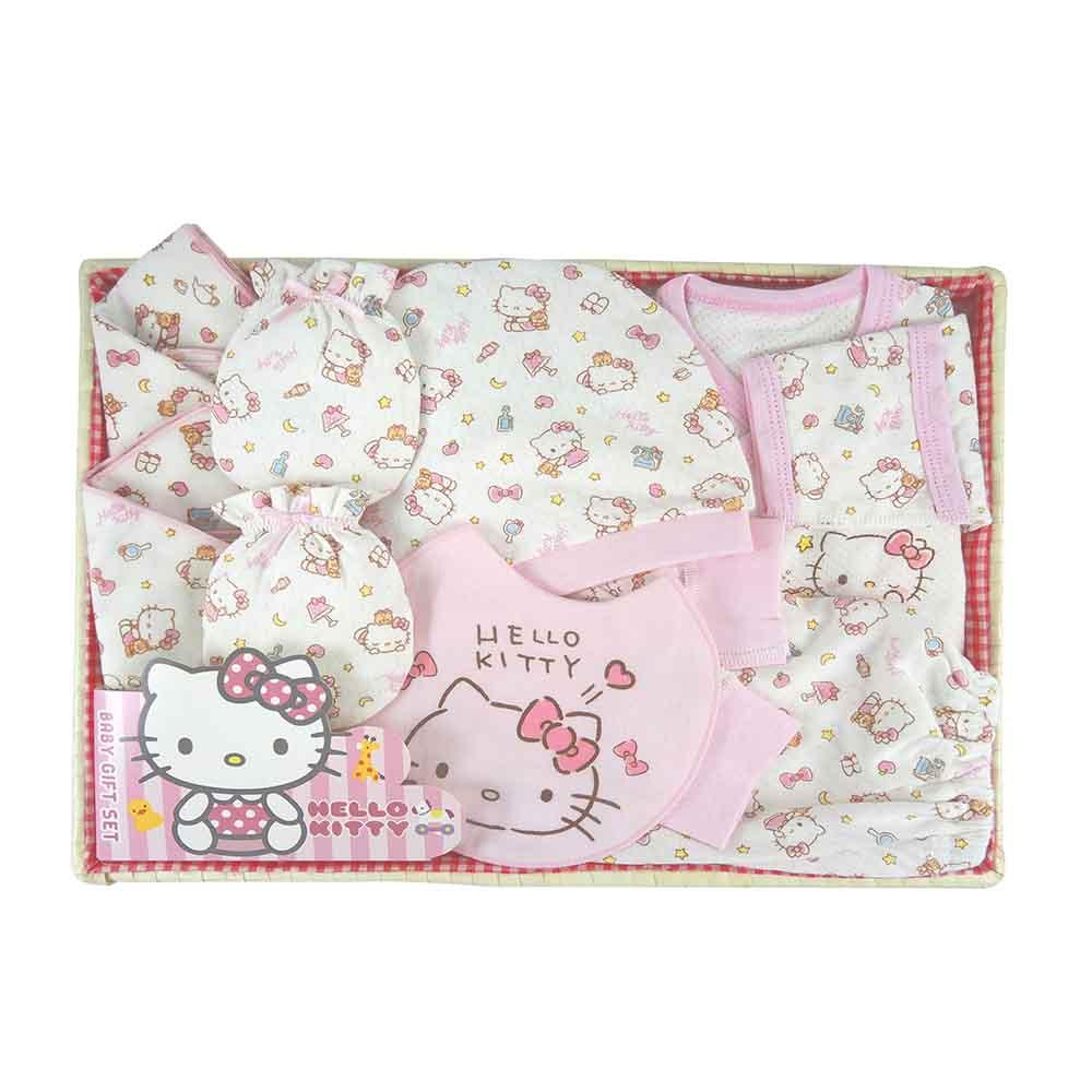 【麗嬰房】三麗鷗系列-HELLO KITTY(凱蒂貓)新生兒禮盒組