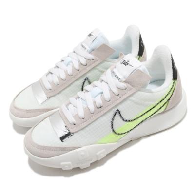 Nike 休閒鞋 Waffle Racer 運動 女鞋 經典款 鬆餅外底 復古 穿搭 球鞋 白 黃 DC4467100