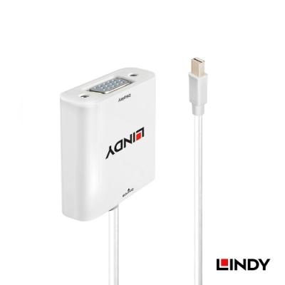 LINDY 林帝 主動式 mini DisplayPort 公 轉 VGA 母 轉換器 (38310)