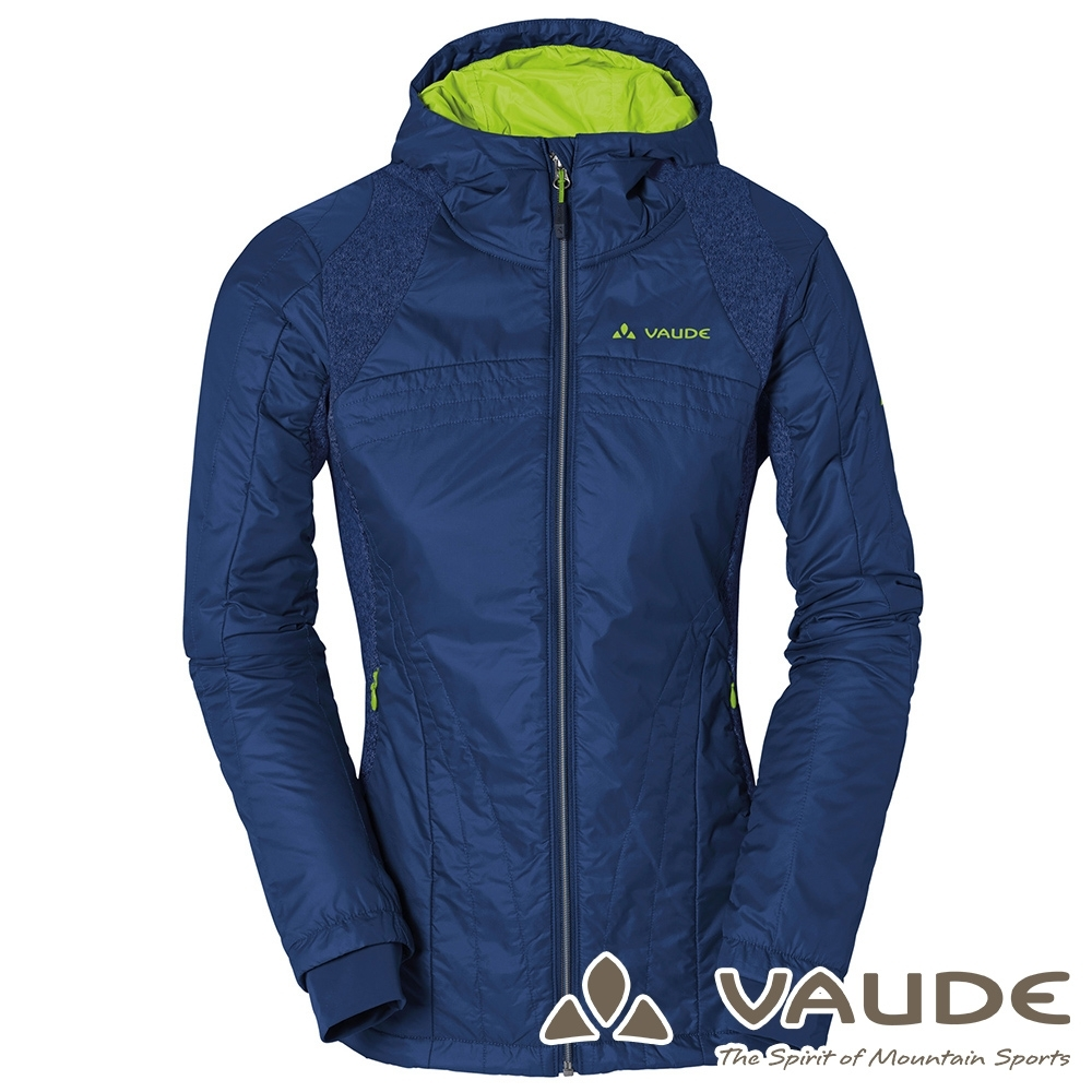 【VAUDE德國】女款Risti科技保溫棉保暖連帽外套VA-05752深藍