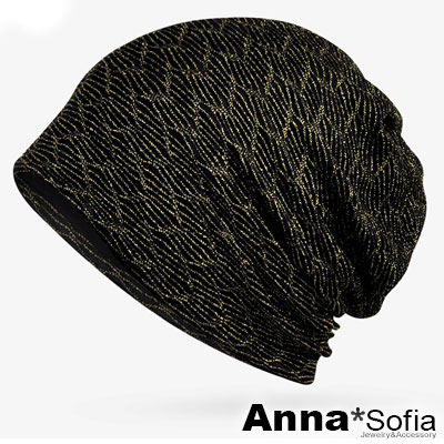 AnnaSofia 旋織中空 多ways薄款帽(閃絲線-金線系)