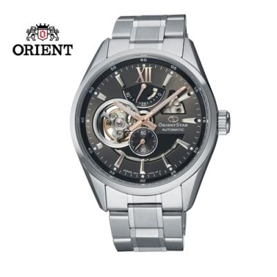 ORIENT STAR 東方之星 OPEN HEART系列 鏤空機械錶 鋼帶款 灰色 RE-AV0004N  - 41.0mm