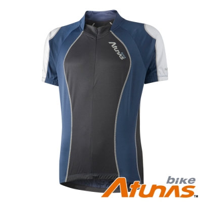 【Atunas 歐都納 Bike】男款防曬吸溼排汗昂揚短袖車衣B13025M藍/黑