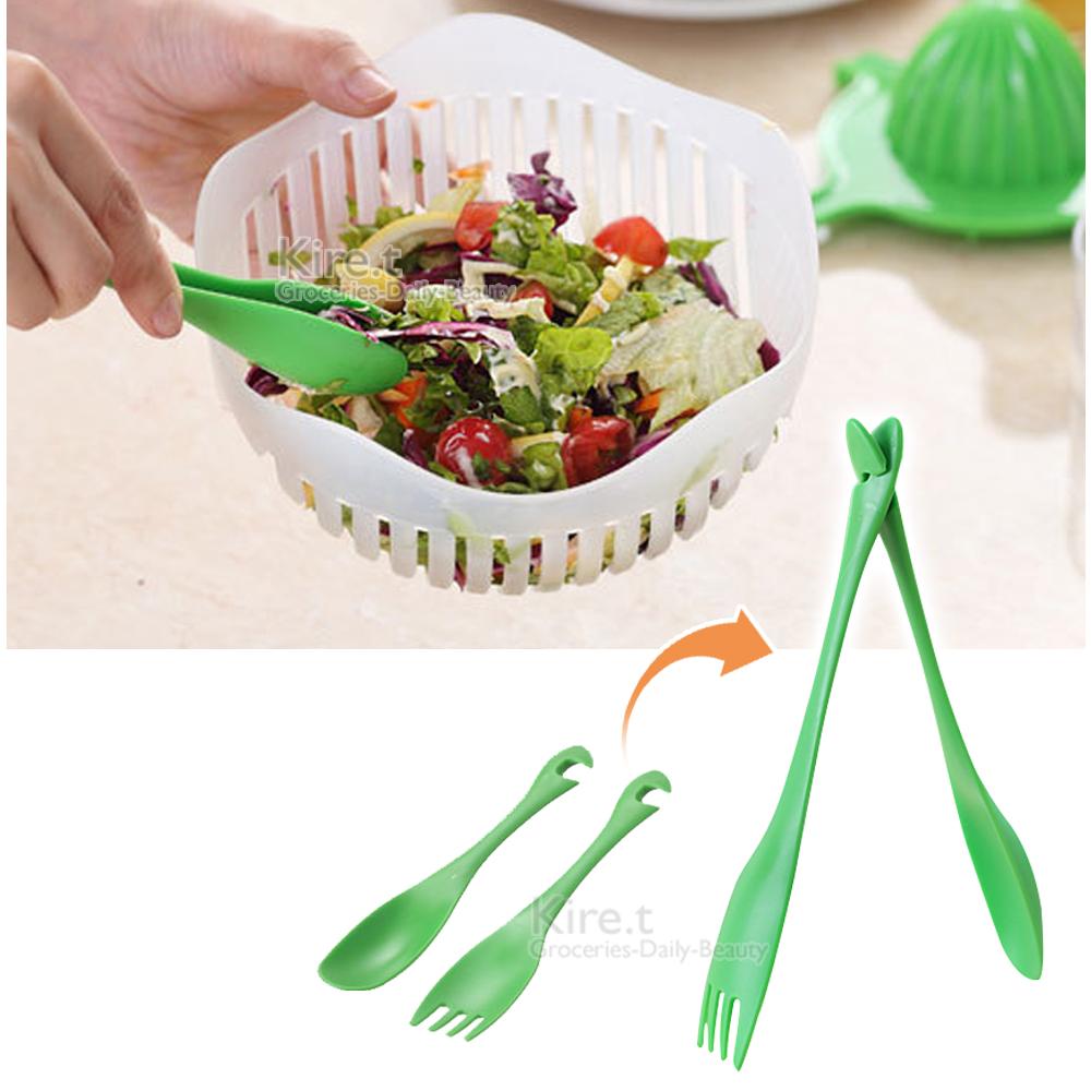 [超值8入] 隨口吃4湯匙+4叉子 輕鬆變身食物夾 餐具 叉勺巧變沙拉夾-kiret