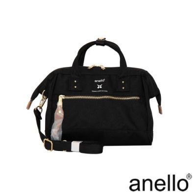 anello RE:MODEL 防潑水經典口金波士頓包 黑色 Small