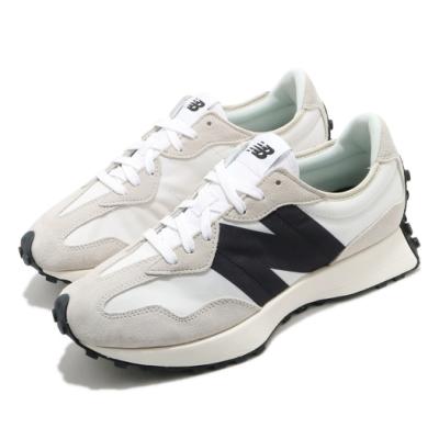 New Balance 休閒鞋 327 低筒 運動 男女鞋 紐巴倫 基本款 簡約 大N 情侶穿搭 米白 黑 MS327FED