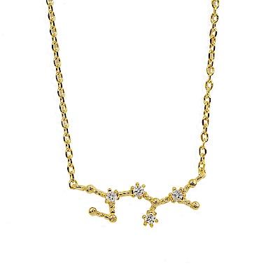 Wanderlust+Co 澳洲時尚品牌 水鑽十二星座系列 射手座 金色項鍊