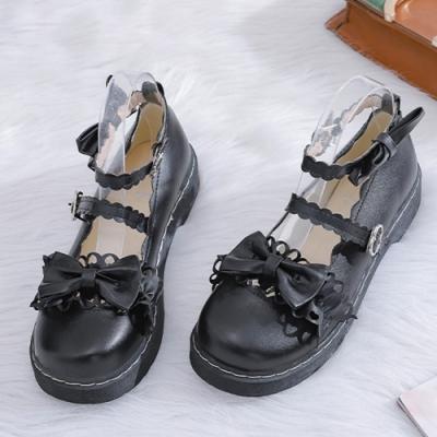 KEITH-WILL時尚鞋館 獨賣款綿密可愛蝴蝶節大頭鞋-黑