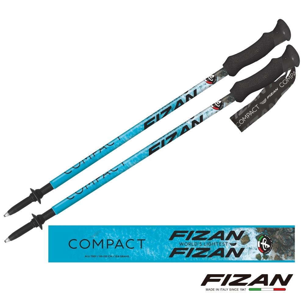 【義大利 FIZAN】超輕三節式健行登山杖2入特惠組 海洋 FZS20.7102.EOC