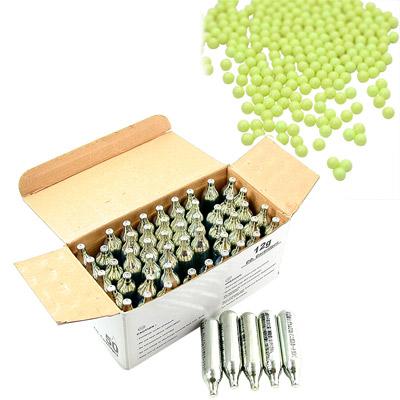 12G高品質CO2鋼瓶50/盒 《台製》0.12G高精密研磨BB彈(1KG)