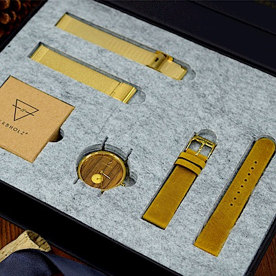 KERBHOLZ-原木手錶-FRIDA聖誕禮盒組-女性適用