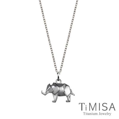 TiMISA 幾何大象 純鈦(極細鎖骨)項鍊(B)