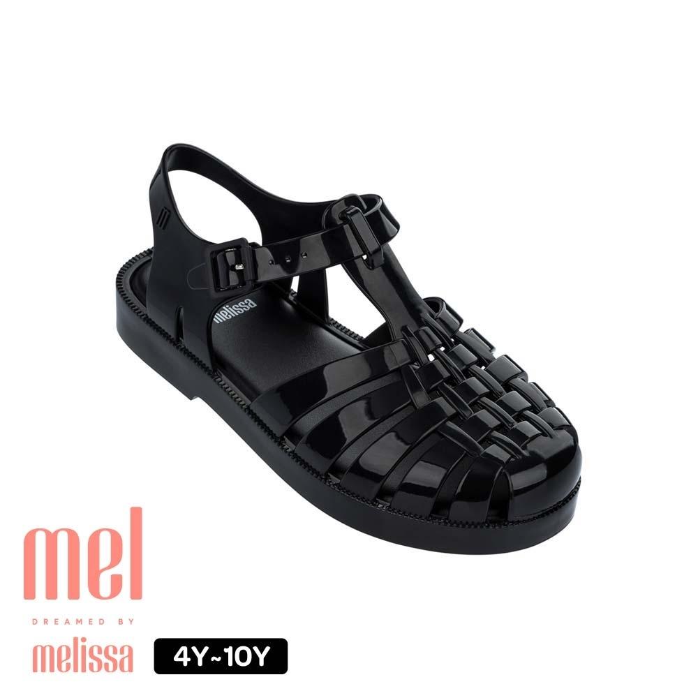 Melissa Kids 果凍漁夫鞋 黑 兒童款-黑