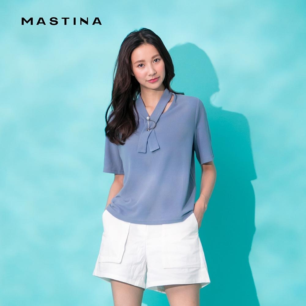 【MASTINA】假領帶別針搭配-上衣(二色)