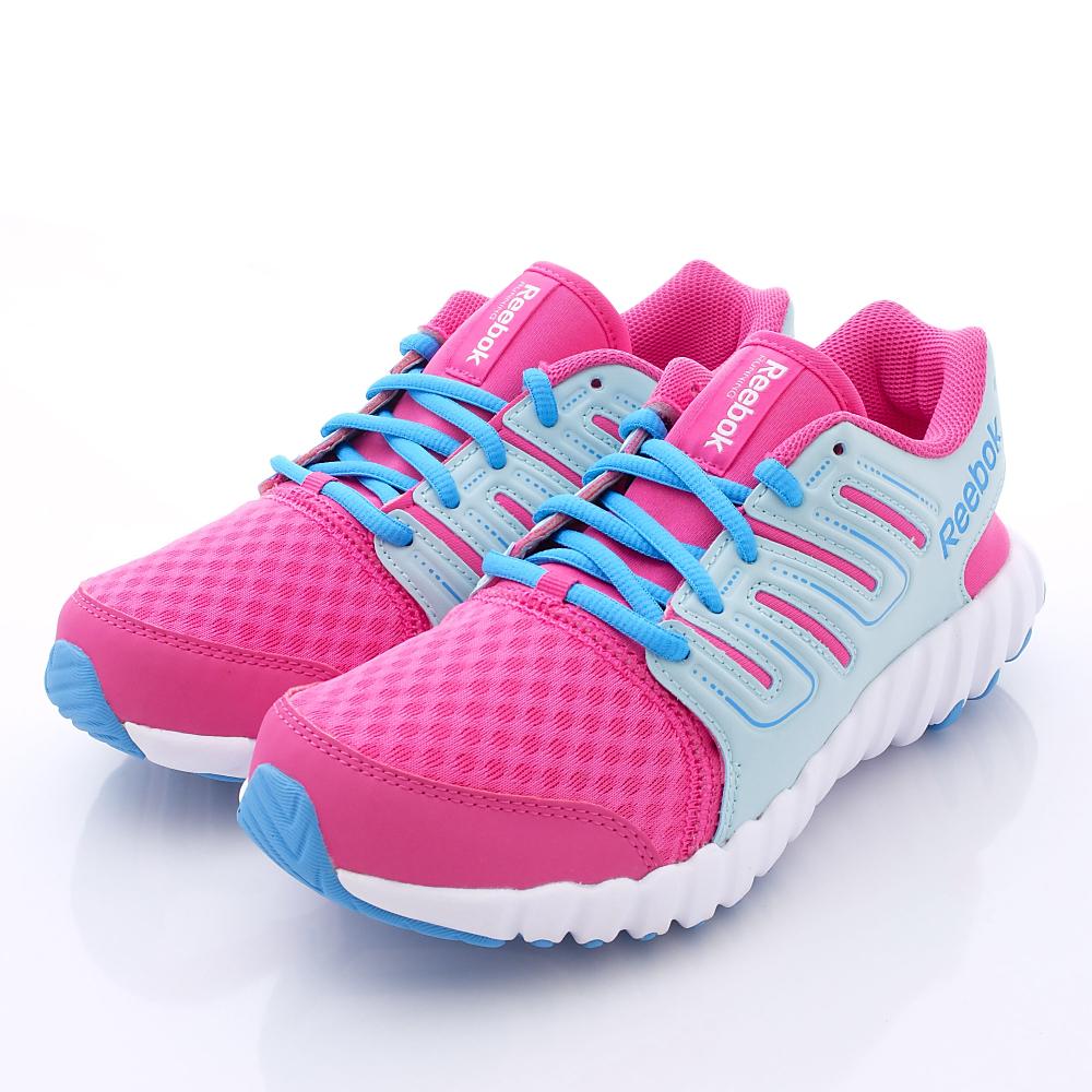 零碼-23.3/24.5cm Reebok頂級童鞋 運動鞋款 SI2985粉藍