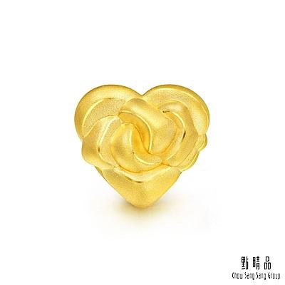 點睛品 Charme 玫瑰心 黃金串珠