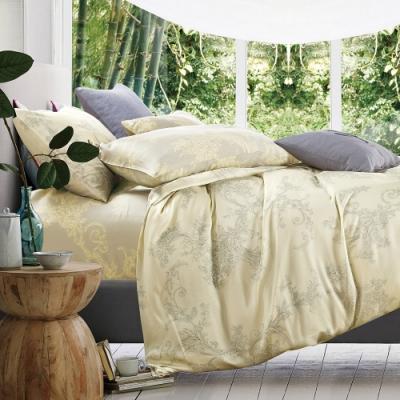 岱思夢 加高天絲床罩六件組 加大6x6.2尺 星晴-黃