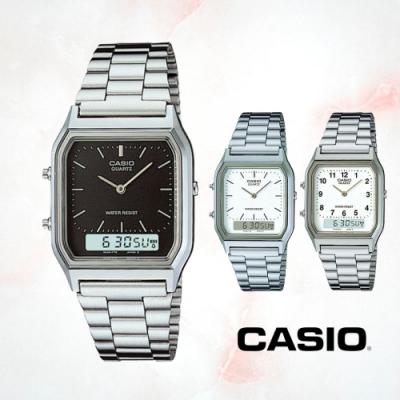 CASIO卡西歐 兩地時間實用雙顯錶(AQ-230A)